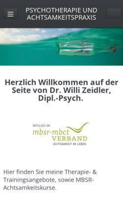 Vorschau der mobilen Webseite www.willi-zeidler.de, Dr. phil. Willi Zeidler, Dipl.-Psych.