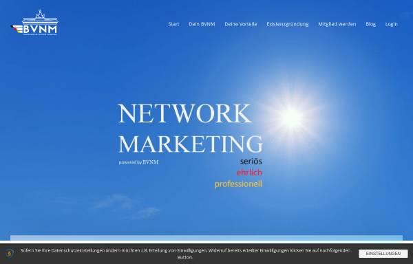 Vorschau von www.bvnm.de, Bundesverband Network Marketing e.V. (BVNM)
