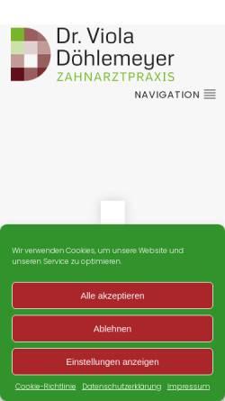 Vorschau der mobilen Webseite www.praxis-doehlemeyer.de, Otten, Dr. med. dent. Karin
