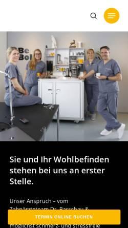 Vorschau der mobilen Webseite www.dr-parschau.de, Zahnarztpraxis Dr. Parschau & Kollegen Ihr Zahnarzt für Implantate in Buchholz