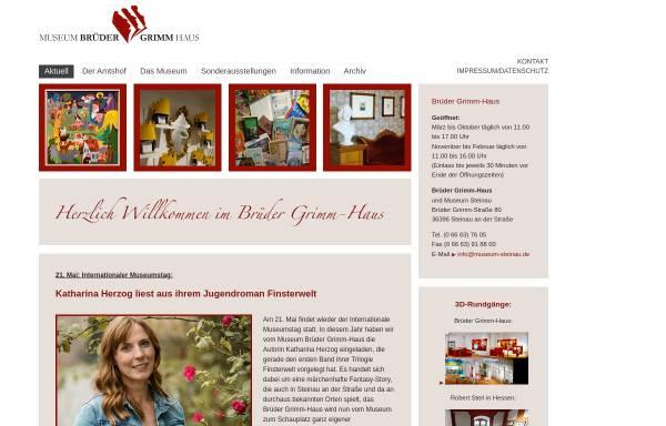 Vorschau von www.brueder-grimm-haus.de, Brüder-Grimm-Haus