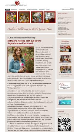 Vorschau der mobilen Webseite www.brueder-grimm-haus.de, Brüder-Grimm-Haus