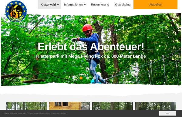 Vorschau von kletterwald-steinau.de, Kletterwald Steinau