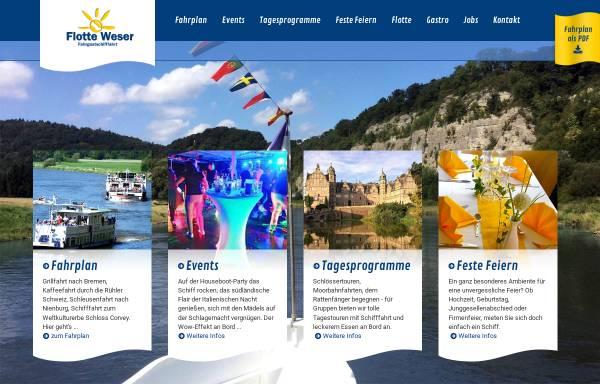 Vorschau von www.flotte-weser.de, Fahrgastschifffahrt Flotte Weser GmbH & Co KG