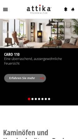 Vorschau der mobilen Webseite www.attika.ch, Attika Feuer AG