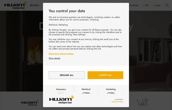 Vorschau von www.hwam.com, HWAM Heat Design AS