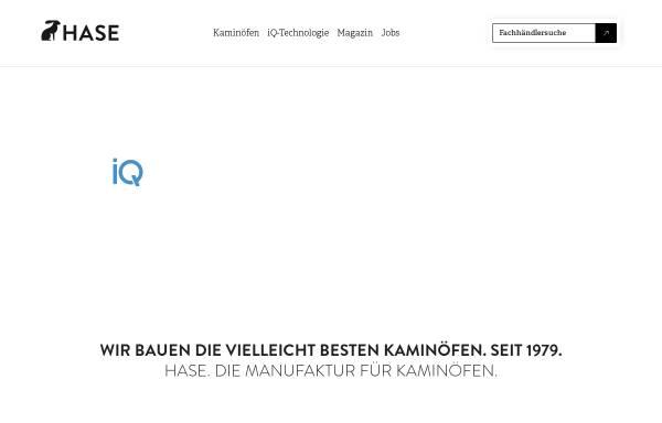 Vorschau von www.hase.de, Hase Kaminofenbau GmbH