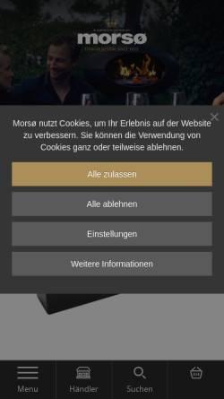Vorschau der mobilen Webseite www.morsoe.de, Morsø Jernstøberi A/S
