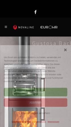 Vorschau der mobilen Webseite www.novaline.org, Novaline Vertriebs GmbH