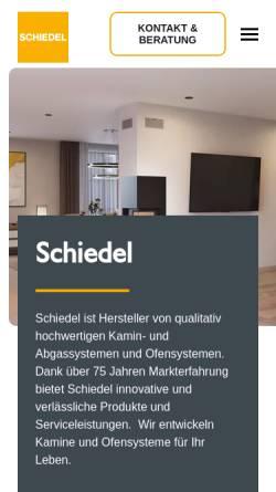 Vorschau der mobilen Webseite www.schiedel.com, Schiedel Kaminsysteme GmbH