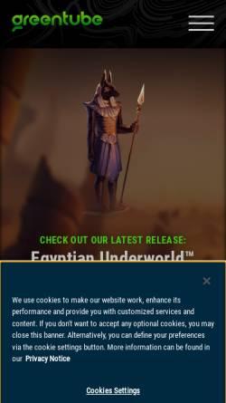 Vorschau der mobilen Webseite www.greentube.com, Greentube Internet Entertainment Solutions GmbH