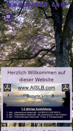 Vorschau der mobilen Webseite www.aislb.de, A.I.S.L.B.- Ausbildung in spiritueller Lebensberatung