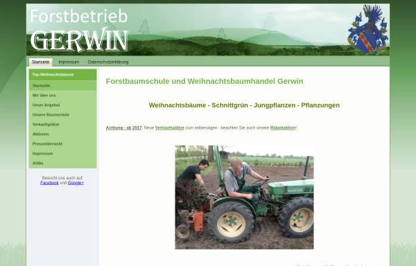 Vorschau von www.top-weihnachtsbaeume.de, Forstbetrieb Gerwin