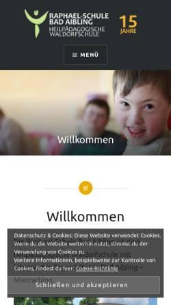 Vorschau der mobilen Webseite raphael-schule.info, Raphael-Schule Bad Aibling