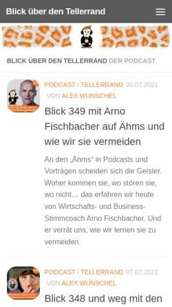 Vorschau der mobilen Webseite www.pimpyourbrain.de, Podpimp - Alexander Wunschel