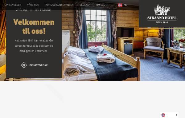 Vorschau von www.straand.no, Quality Straand Hotel & Resort Telemark