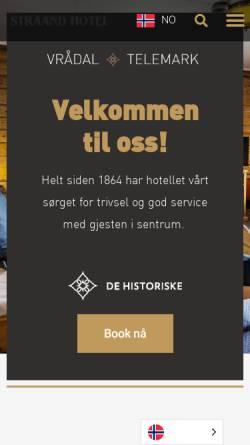 Vorschau der mobilen Webseite www.straand.no, Quality Straand Hotel & Resort Telemark