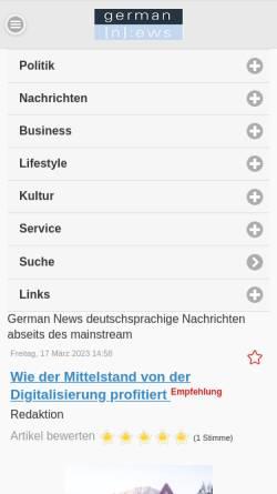 Vorschau der mobilen Webseite germannews.com, Aktion: Deutsche Freiwilligen Division Angela