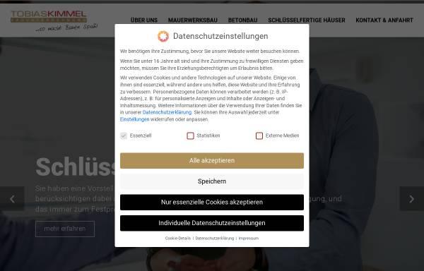 Vorschau von www.kimmel-bau.de, Tobias Kimmel Bauunternehmen