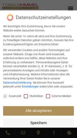 Vorschau der mobilen Webseite www.kimmel-bau.de, Tobias Kimmel Bauunternehmen