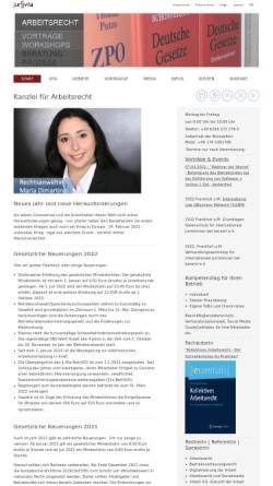 Vorschau der mobilen Webseite www.mariadimartino.de, Maria Di Martino - Acrylmalerei, Fotodesign, Juristerei