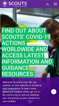 Vorschau der mobilen Webseite www.scout.org, Weltpfadfinderbewegung - WOSM