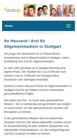 Vorschau der mobilen Webseite www.dr-asch.de, Dr. med. Andreas Asch