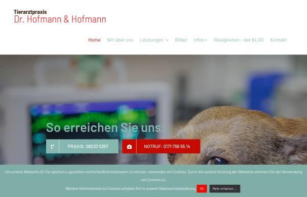 Vorschau von www.tierundleben.de, Tierarztpraxis Dr. Henrik Hofmann und Daniela Hofmann