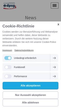 Vorschau der mobilen Webseite dpsg-biberach.de, DPSG Stamm Weiße Rose
