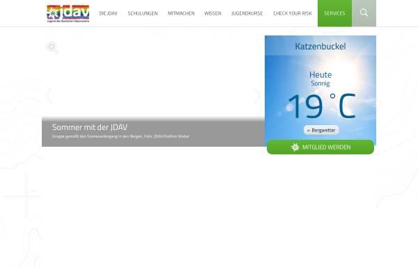 Vorschau von www.jdav.de, Jugendverband des Deutschen Alpenvereins