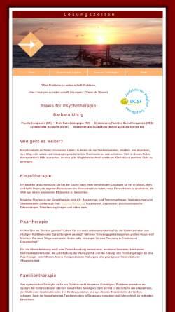 Vorschau der mobilen Webseite loesungszeiten.de, Barbara Uhrig Praxis Lösungszeiten
