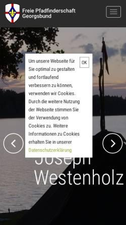 Vorschau der mobilen Webseite www.georgsbund.de, ESM, Georgsbund, Westenholz