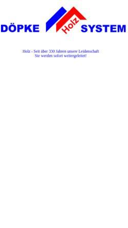 Vorschau der mobilen Webseite www.doepke-holz-system.de, Döpke Holz System - Inh. Dipl. Ing. Christian Döpke