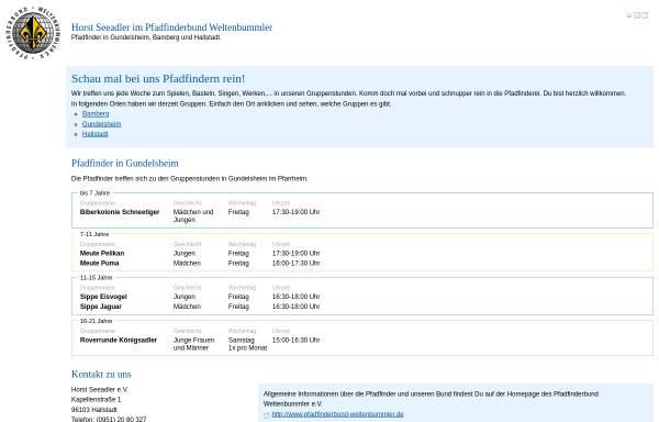 Vorschau von www.pfadfinder-gundelsheim.de, PbW - Horst Seeadler Gundelsheim