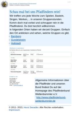 Vorschau der mobilen Webseite www.pfadfinder-gundelsheim.de, PbW - Horst Seeadler Gundelsheim