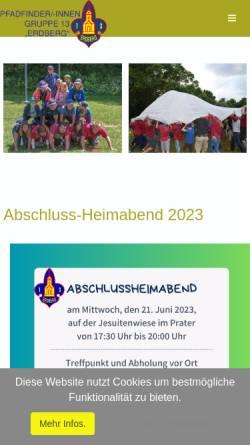 Vorschau der mobilen Webseite www.13er.at, Pfadfindergruppe Wien 13 Erdberg