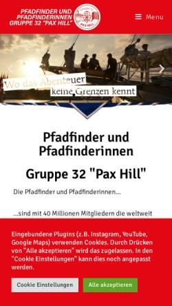Vorschau der mobilen Webseite www.32er.org, Pfadfindergruppe Wien 32 Pax Hill