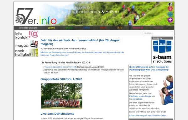 Vorschau von www.57er.info, Pfadfindergruppe Wien 57