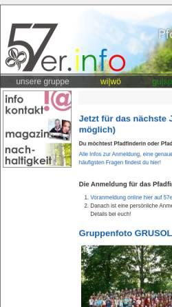 Vorschau der mobilen Webseite www.57er.info, Pfadfindergruppe Wien 57