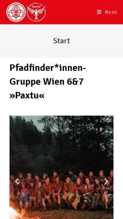Vorschau der mobilen Webseite www.7er.at, Pfadfindergruppe Wien 7