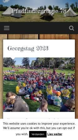 Vorschau der mobilen Webseite www.scout78.at, Pfadfindergruppe Wien 78 - Christ-König