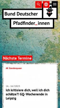 Vorschau der mobilen Webseite www.bdp.org, Bund Deutscher PfadfinderInnen