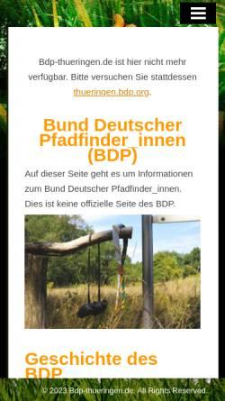 Vorschau der mobilen Webseite www.bdp-thueringen.de, BDP Landesverband Thüringen