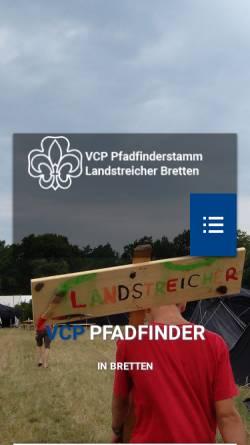 Vorschau der mobilen Webseite www.vcp-bretten.de, Verband Christlicher Pfadfinderinnen und Pfadfinder Bretten