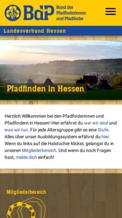 Vorschau der mobilen Webseite hessen.pfadfinden.de, BdP Landesverband Hessen