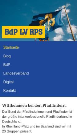 Vorschau der mobilen Webseite www.bdp-rps.de, BdP Landesverband Rheinland - Pfalz / Saar