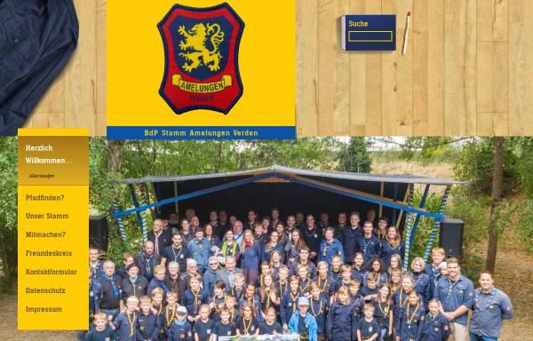 Vorschau von www.amelungen.de, BdP Stamm Amelungen, Verden