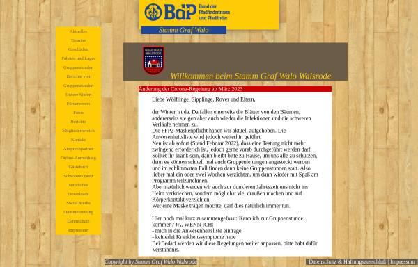 Vorschau von www.stammgrafwalo.de, BdP Stamm Graf Walo, Walsrode
