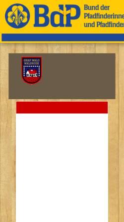 Vorschau der mobilen Webseite www.stammgrafwalo.de, BdP Stamm Graf Walo, Walsrode