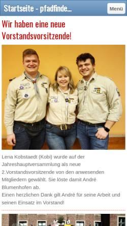 Vorschau der mobilen Webseite www.pfadfinder-schiefbahn.de, BdP Stamm St. Hubertus, Willich-Schiefbahn